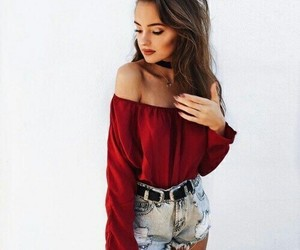 aesthetic, clothes, and red image