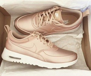 girly, golden, and nike image