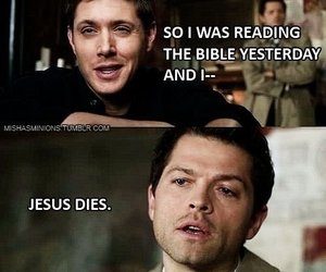 supernatural, castiel, and funny image