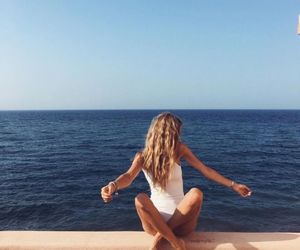girl, ocean, and photography image