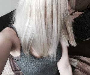 girl, hair, and platinum blonde image