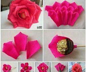 diy, chocolate, and rose image