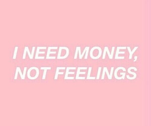 money, pink, and quotes image
