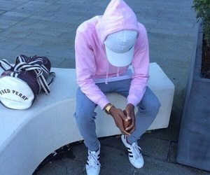 adidas, boy, and pink image