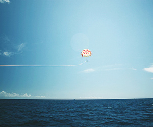 ocean, parachute, and photography image