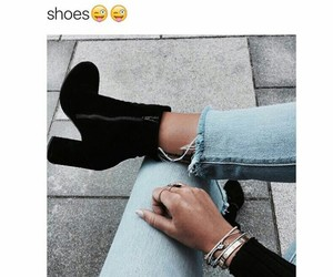 ankle boots, beautiful, and black image