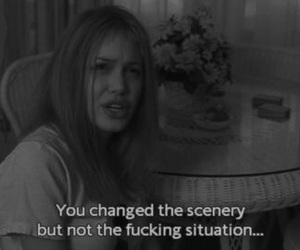 Angelina Jolie, girl interrupted, and quotes image