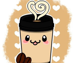 kawaii, coffe, and coffee image