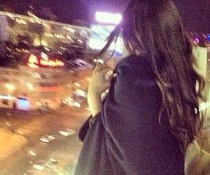 girl, black, and street image