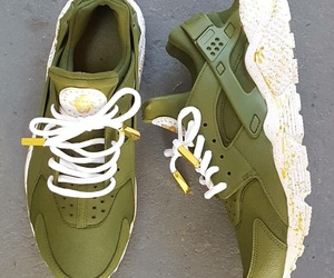 gold, green, and huarache image