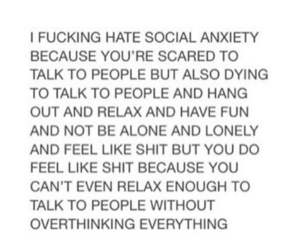 quote and social anxiety image