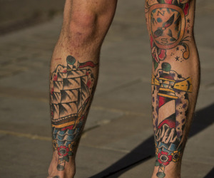 tattoo, boy, and legs image