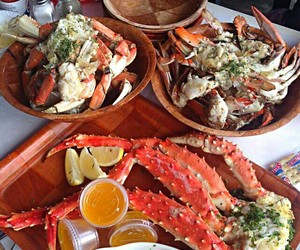 crabs, dinner, and eat image