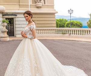 clothes, fashion, and couture wedding gowns image