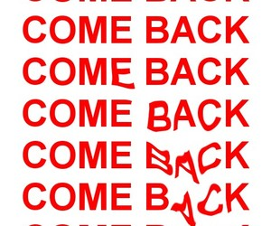 come back, grunge, and red image
