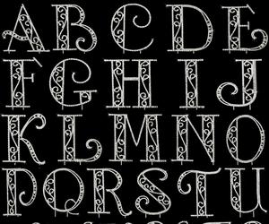 black, elegant, and Letter image