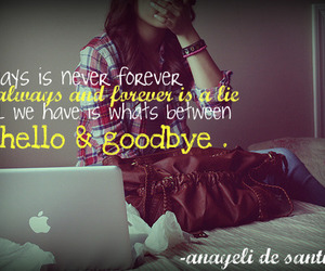 always, forever, and goodbye image