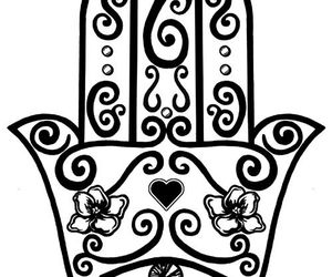 happiness, positive energy, and hand of fatima tattoo image