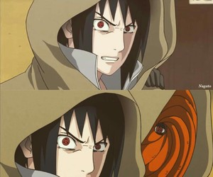 anime, sharingan, and itachi image