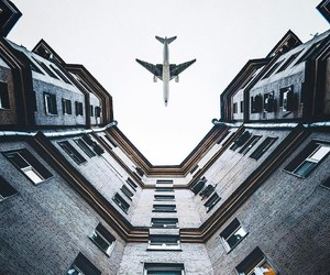 plane, travel, and building image
