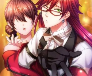 black butler and red image