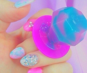 nails, candy, and pastel image