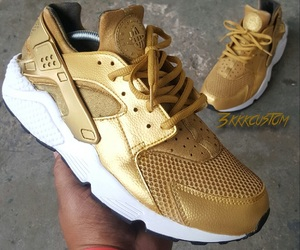 huarache, nike, and gold image