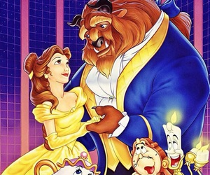 belle, disney, and beast image