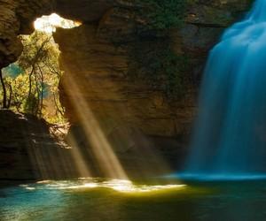 waterfall, nature, and amazing image