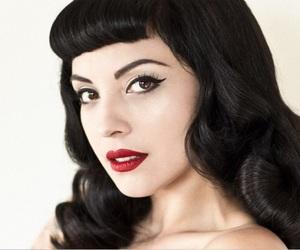 50's, black hair, and make up image
