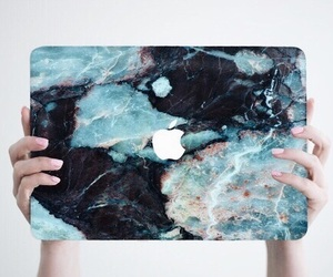 apple, macbook, and blue image
