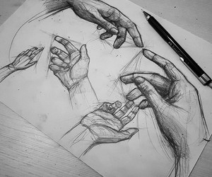 hands and sketch image