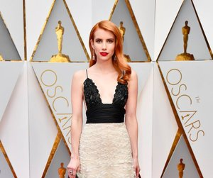 emma roberts, oscar, and red carpet image