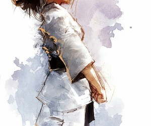 chicas, dibujos, and artes marciales image
