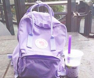 purple, backpack, and aesthetic image