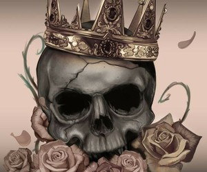 skull, crown, and king image