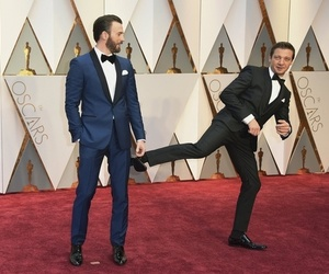oscar, chris evans, and jeremy renner image