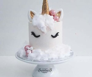 cake, unicorn, and birthday image