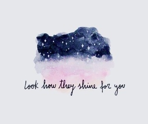 wallpaper, stars, and quotes image