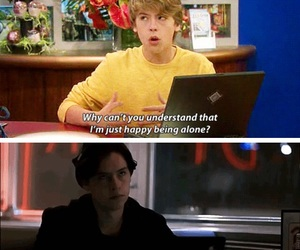 funny, martin, and cole sprouse image