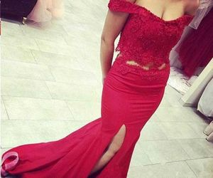 prom dresses, sexy mermaid prom dresses, and sexy red prom dresses image