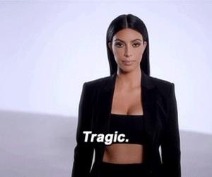 funny, tragic, and kim kardashian image