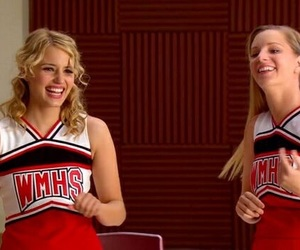 dianna agron, cheerios, and glee image