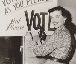 vintage, vote, and Jane Russell image