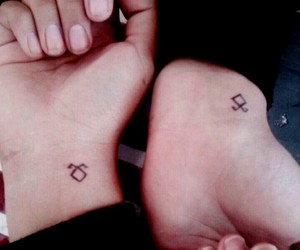 friendship, tatoos, and shadowhunters image