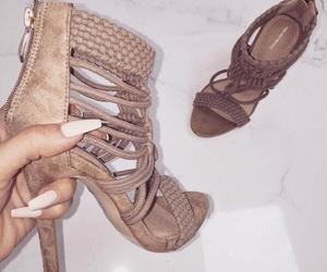 fashion, heels, and nails image