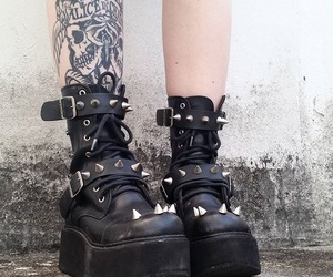 tattoo, boots, and goth image