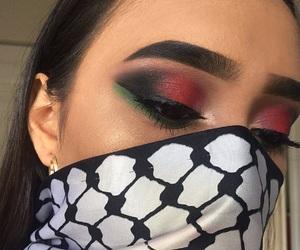 glam, makeup, and Palestinian image