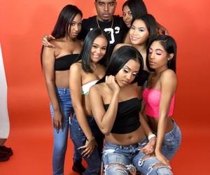 photoshoot, melanin, and squad image
