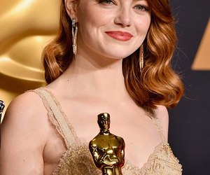 emma stone and oscar 2017 image